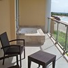Now Jade Oceanfront Suite balcony with jacuzzi tub and beautiful oceanview!<br /> <br /> Please contact Romance@SandnSunVacations.com for more information on Now Jade or any of the Now, Secrets, or Dreams properties