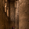 Hypostyle hall at the Dendera temple dedicated to the goddess Hathor.