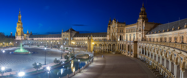 Plaza Espana in Seville was built for an exposition in 1929.