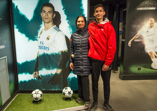 At the official store of Real Madrid.
