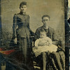 Mina Clark (Sparks) (1871-1932) and Ben Willsey<br /> with their 1st child, Ernest LeRoy.<br /> Sloansville, NY