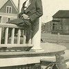 """Ernest Willey.<br /> His wife Bess writes on the back,<br /> """"Ernest in Kansas before I knew him."""""""