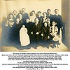 The family of Hartley Wallace Roberts and Susan Hannah (Marbacher).<br /> Back rows from left: Ora Thankful (Roberts) (1882-1963) and her husband George L. Williams (1881-1964),<br /> Florence May (Roberts) (1877-1948) and her husband Lemuel Rorabaugh (1869-1954),<br /> Sherlottie (Garner) (1889-1937) and her husband Edward James Roberts (1885-1958),<br /> Anna Udora (Roberts) (1879-1956) and her husband Joseph Albert Cooley (1874-1949),<br /> and Miles Hartley Roberts (1888-1961).<br /> Front row from left: Ralph Vernon Roberts (1898-1976),<br /> Susan H. (Marbacher) (1854-1937) holding Hartley Edward Roberts (1907-?) son of Sherlottie and Edward,<br /> Susan's husband Hartley Wallace Roberts (1851-1934),<br /> Reta Madge Roberts (1895-1969), and Bessie Ellen Roberts (1892-1980).<br /> Probably Boise, ID  c. 1907.