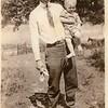 Thomas Edward Patton with his son Thomas<br /> Warren Patton (1916-2008).<br /> 1918