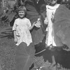 George Washington Sparks with his great<br /> granddaughters Kathryn Louise, left,<br /> and Maurice Willsey.  Trenton, MO 1923