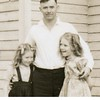 John McDonald and two of his daughters Dona, left, and Cherry.