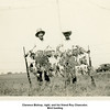 Clarence Bishop, right, and his friend Roy Chancelor.<br /> Bird hunting