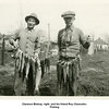 Clarence Bishop, right, and his friend Roy Chancelor.<br /> Fishing