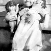 Kathryn Louise Willsey<br /> The large doll is Mary Jane, made by<br /> Kathryn's mother, Bess (Roberts) Willsey.