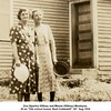 "Zoa (Sparks) Willsey and Minnie (Willsey) Montayne.<br /> At an ""Old school house, East Cobleskill"", NY  Aug 1934"
