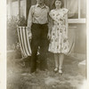 "John McDonald and his daughter, Cherry.<br /> His wife, Ruth writes, ""Cherry says that Daddy<br /> looks as if he had just been released and given<br /> his five dollars.""<br /> Bremerton, WA"