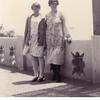 Bessie Maurice Willsey, left, and her aunt, Tessie Lulu (Roberts) Miller.<br /> San Pedro, CA