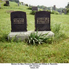 Markers for Mary Florence (Sparks) and William S. Reynolds.<br /> IOF cemetery<br /> Salem, WV