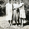 Maurice Willsey, left, her sister Kathryn, right<br /> with their cousin Orabelle Williams.<br /> Boise, ID  1929
