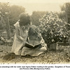 Mary Louise (standing) with her sister Jane Agnes Patton reading in the garden.  Daughters of Thomas Edward<br /> and Florence Etta (Montgomery) Patton.