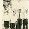 """Sons of Reuben Hill Reynolds<br /> From left, Ray, Jerry """"Jiggs"""", Gene """"Laffin"""", Drew """"Charlie""""<br /> Hominy, OK"""