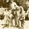 "Hartley W. Roberts and grandkids from left,<br /> Orabelle Williams, Kathryn and Maurice Willsey,<br /> Orabelle's brother George Richard ""Dick"".<br /> Boise, ID  1920"