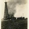 Reuben Reynolds' oil rig on fire.<br /> Near Yale, OK