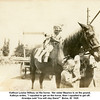 "Kathryn Louise Willsey on the horse.  Her sister Maurice is on the gound.<br /> Kathryn writes, ""I squalled to get on the horse, then I squalled to get off.<br /> Grandpa said 'You will stay there!'""  Boise, ID  1920"
