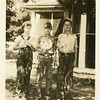 Eugene Nowery Reynolds, left, his brother<br /> Thomas Drew, right, and their cousin Howard.<br /> Hominy, OK