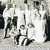 """Front from left, George """"Dick"""" Williams, his sister Orabelle, their cousins Kathryn and Maurice Willsey.<br /> Back from left, Dick's dad George L. Williams, his brother-in-law Miles Roberts, May (Roberts) Rorabaugh,<br /> Kathryn's grandmother Susan Roberts and mother Bess Willsey, George's wife Ora Thankful.  Boise, ID"""