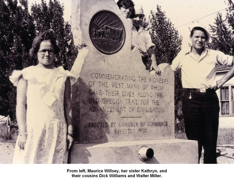 From left, Maurice Willsey, her sister Kathryn, and<br /> their cousins Dick Williams and Walter Miller.