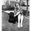 Ruth Mae (Haberman) McDonald with her dog<br /> Snuffy Smith at her home in Bremerton, WA. c,1940