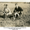"From left, Eugene N. ""Laffin"" Reynolds and his brother Reuben Ray.<br /> The dogs are ""Ben"", left, and ""Lady"".<br /> Oklahoma, 1940"