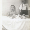 The first three of the Reynolds'<br /> children, Jerry and Gene in back<br /> and Kathy in front.<br /> Tulsa, OK 9 Dec 1946