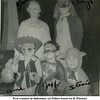 Five cousins at Halloween on Patton home on N. Phoenix<br /> In back: Paula Kathleen Patton, and Cheryl Sanders; in front <br /> Jayne Ann Bishop, Jeffrey Warren Patton, and Stevie Warren Sanders.<br /> Tulsa, OK