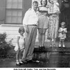 Kids from left, Kathy, Tom, and Sue Reynolds.<br /> Adults from left, their parents Eugene and Kathryn Reynolds<br /> and Eugene's sister Eldora Beaver.<br /> At the Reynolds home, Tulsa OK  6/22/1950