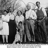 From left: Jerry, Kathryn Reynolds, Drew, Beulah Copland with Gene, Reuben Reynolds, Ray<br /> Jerry and Gene are Kathryn's sons.  Drew and Ray are Reuben's.<br /> Beulah is Reuben's friend.  At his house in Hominy, OK  c. 1945