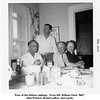 """Four of the Willsey siblings:  From left, William Clark """"Bill"""",<br /> Glen Preston, Ernest LeRoy, and Lucile.<br /> At Ernest's house.  Tulsa, OK  1956"""