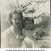 Jane Agnes (Patton) Bishop with her daughter Jayne Ann Bishop.<br /> Tulsa, OK