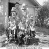 From left, Kathy Reynolds, her grandmother Bess Willsey,<br /> Glen Willsey, his brother Ernest, Kathy's brothers Gene<br /> and Jerry.  Bess and Ernest's home, Tulsa, OK