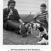 "Ruth Grey and Eugene N. ""Gene"" Reynolds, II.<br /> Puppies are from Peggy, the Springer Spaniel of Gene's<br /> aunt and uncle, Bishop and Drew Reynolds.  Tulsa, OK 4/4/1954"