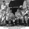 Adults, Glen Willsey, left, and his brother Ernest.<br /> With Ernest's grandkids, from left, Jerry, Gene, and Kathy Reynolds.<br /> Mohawk Park, Tulsa, OK, Easter 1949