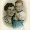 Gene Reynolds and his grandmother,<br /> Bess (Roberts) Willsey.<br /> Tulsa, OK  1942