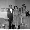 Jeffrey Warren and sister Paula Kathleen Patton<br /> at Tulsa home on N. Phoenix, Tulsa, OK, ready <br /> for Jeff's Jr. Assembly Dance.   c. 1959