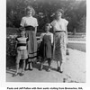 Paula and Jeff Patton with their aunts visiting from Bremerton, WA,<br />  from left, Cherry and Dona McDonald.<br /> Tulsa, OK  c. 1951