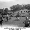 """""""Labor Day Olympics"""" for Reynolds family kids and friends.  At Drew and Bishop Reynolds' home.<br /> In the background is the home of Eugene and Kathryn Reynolds,<br /> 2307 N. Garrison Pl., Tulsa, OK  1957"""