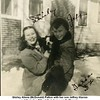 Shirley Aliene (McDonald) Patton with her son Jeffrey Warren<br /> and their dog Filly at their home on N. Phoenix.<br /> Tulsa, OK