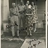 In front, Karl Joseph Haberman and his wife<br /> Susan Hannah (Stevens) Haberman with their<br /> son Orvil Lester Haberman and two of their<br /> daughters, Ruth Mae (Haberman) McDonald and<br /> Gladys Lucille Haberman.  Sand Springs, OK 1942