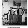 From left, Jerry and Gene Reynolds.<br /> At their home on Garrison Place.<br /> Tulsa, OK, 8 Dec 1953
