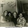 Paula Kathleen and Jeffrey Warren Patton with <br /> grandmother Ruth (Haberman) McDonald and aunt Cherry<br /> McDonald at Patton home on N. Phoenix<br /> Tulsa, OK