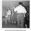 """New Year's party at Drew and Bishop Reynolds' home.<br /> At left is Gladys Perrin, a waitress at Ray's Cafe, and Jerry<br /> Arnold """"Jiggs"""" Reynolds.  Tulsa, OK  New Years eve, 1954"""