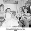 Kathryn (Willsey) Reynolds with her kids.<br /> From left, Sue, Kathy behind her, Tom, Jerry, and Gene.<br /> At the home of Kathryn's parents Ernest and Bess Willsey.<br /> Tulsa, OK