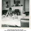 """Eugene Reynolds with his kids, from left,<br /> Tom, Jerry, Sue, and Kathy.  Their mom, Kathryn, writes,<br /> """"Laffin telling bed time story of Alaska.""""<br /> Tulsa, OK 22 Apr 1952"""
