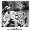 "Drew Reynolds fishing in Turkey Creek.<br /> At the Reynolds ""farm""<br /> 1955"