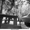 Ernest Leroy Willsey.<br /> Fishing from the highway 33 bridge camp, OK<br /> Summer 1953